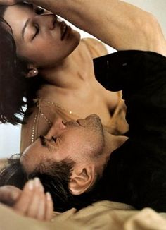Jeremy Irons and Milla Jovovich for Donna Karan