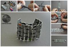 Metal bracelet_ Glòria Fort #bracelet #pulsera #metal #DIY #tutorial