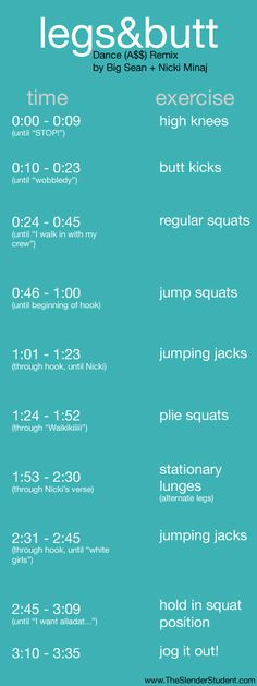 such a good idea... workout that goes with the song!