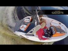 The Scarab 165 is arguably more fun than a boat, almost a go-cart for three on the water as it's nimble handling in unmatched and the Rotax Jet Propulsion sy. Gadgets, More Fun, Boats, Style, Luxury, Swag, Ships, Gadget, Boat