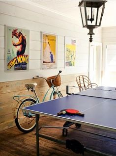 Habitually Chic We will have to do without the light fixture though. Cute but not ping pong approved.                                                                                                                                                                                 More