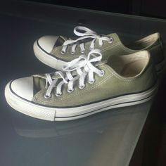 Converse All Stars Like new. Literally worn once! converse all stars in  Olive  03bad1744