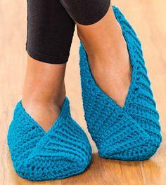 Ravelry: Toe-Hugger Slippers pattern by Debra Arch
