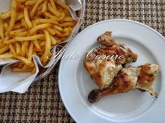 Frango assado na brasa com batata frita   por Prato Caseiro   feito com o nosso piri-piri em aguardente de fruta
