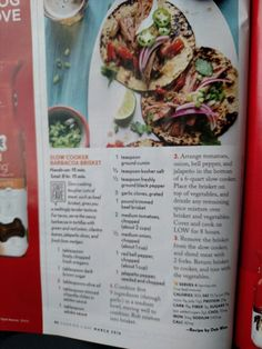 From Cooking light: barbacoa brisket for tacos