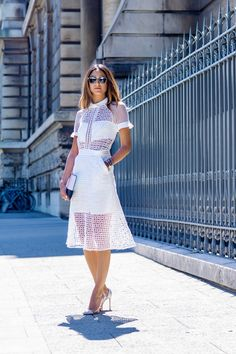 White Eyelet Dresses: How to Wear Summer's Prettiest Trend | StyleCaster