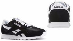 8581d012c7bd9 Men s Reebok CLASSIC NYLON Casual Sneaker BLACK white 6604