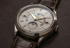Patek Philippe Perpetual Calendar Platinum Watch Hands-On Hands-On Perpetual Calendar, Patek Philippe, Omega Watch, Watches, Hands, Elegant, Accessories, Style, Clock Art
