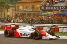 Alain Prost, McLaren-TAG Porsche MP4/2C, 1986 San Marino GP, Imola