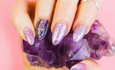 Check out Nail Art designs ideas, nail care tips and tricks, nail paint, manicure, pedicure for beginners to do at home with very simple and easy steps. Manicure Steps, Manicure And Pedicure, Nail Art Brushes, Nail Art Tools, Gem Nails, Hair And Nails, Violet Nails, Different Types Of Nails, Nail Care Tips