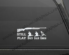 Hunting duck duck goose  graphic window decal by BlueFoxGraphics, $4.99