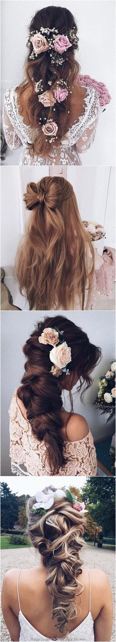 Hair Prom Updo Pearl Flower 17 New Ideas Wedding Hairstyles For Long Hair, Trendy Hairstyles, Straight Hairstyles, Hair Wedding, Bridal Hairstyles, Prom Updo, Prom Hair, Wedding Hair Inspiration, Wedding Ideas