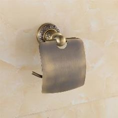 [ 20% OFF ] New Wall Mounted Bathroom Antique Brass Carving Toilet Paper Holder With Cover 775120