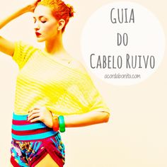 Guia do cabelo Ruivo - Cabelo cacheado ruivo acobreado; Curly Hair; Curly red hair; Redhead; Ginger hair