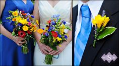 #Blue and #yellow #wedding
