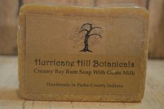 Goats Milk & Aloe Creamy Bay Rum Soap by hurricanehill. Explore more products on http://hurricanehill.etsy.com