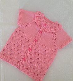 Baby Cardigan, Baby Pullover, Knit Vest, Baby Knitting Patterns, Knitting Stitches, Crochet Patterns, Crochet For Kids, Crochet Baby, Knit Crochet