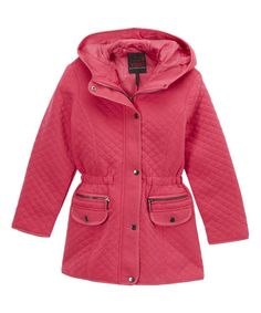 Look at this Yoki Fuchsia Double-Closure Hooded Coat - Girls on #zulily today!