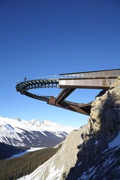 Architects: Sturgess Architecture 2014 Location: Jasper National Park, Jasper, Canada The Glacier Skywalk is a long interpretive walk carved and folded into the mountainous landscape of Jasper National Park in the Canadian Rockies. Oh The Places You'll Go, Places To Travel, Places To Visit, Parks Canada, Canadian Rockies, Canada Travel, Canada Trip, Canada Eh, Amazing Architecture