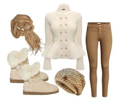 """*Cold-October-day*"" by gorgeousclothes ❤ liked on Polyvore featuring Alexander McQueen, UGG Australia, H&M and Au Jour Le Jour"