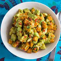 BHG's Newest Recipes:Roasted Pumpkin Guacamole Recipe...this goes with the roasted pork tacos with pumpkin seed sauce.