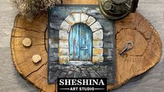 How to draw an old door with soft pastels Sheshina Ekaterina