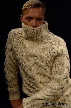 613-044 Thick-Knit Wool-Alpaca Mock-Turtleneck Sweater