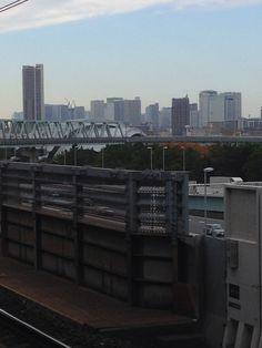 At Shin-kiba Station.