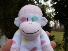 sock monkey  FREE HEART or MONOGRAM patch by socksandmonkeyhugs, $14.00
