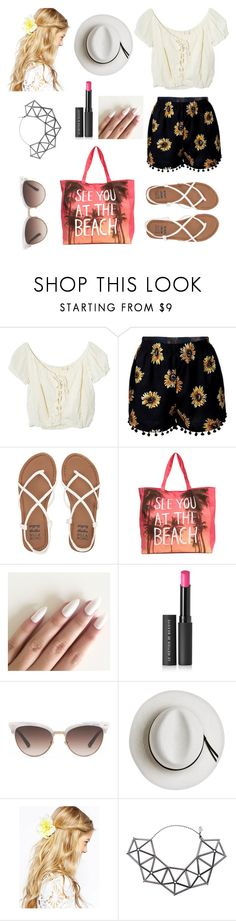 """Beach, please. "" by armorlessmerida on Polyvore featuring Jens Pirate Booty, Billabong, Le Métier de Beauté, Gucci, Calypso Private Label, ASOS and WXYZ by Laura Wass"