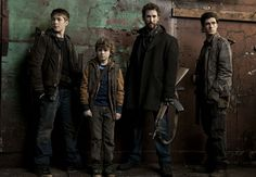 "Ben, Matt, Tom, and Hal.  The amazing Mason family from ""Falling Skies."""