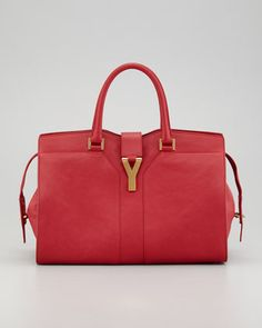 Cabas Chyc Medium Tote Bag, Rouge by Yves Saint Laurent $2150
