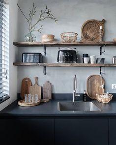 living room ideas – New Ideas Kitchen Dinning, New Kitchen, Kitchen Decor, Industrial Style Kitchen, Cuisines Design, Beautiful Kitchens, Interior Design Kitchen, Home And Living, Home Kitchens