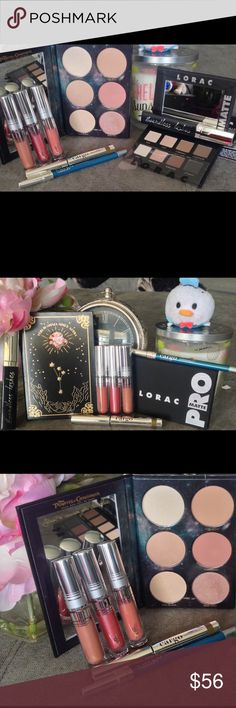 The Modern SuperWomen🕵‍♀️Lorac,Cargo &PUR BNIB💯 The Modern SuperWomen🕵‍♀️Lorac,Cargo &PUR All items Brand new BNIB💯Authentic, batch numbers shown to display authenticity. Lorac Limited Edition Pirates of the Caribbean 6-pc Blush & Highlight Palette. Lorac Pro Matte Eyeshadow Palette. Cargo Boundless Mascara In Black, Swimables Eyeshadow Stick in Palm Bay, Swimables Eyeliner Pencil in Lake Como. PUR Chrome Glaze Lipglosses: Squad, Arm candy & Smarty Pants. This set has everything you need…