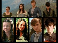 Narnia: Prince Caspian <<-- anyone else notice that Peter is wearing the exact same shirt? Lucy Pevensie, Susan Pevensie, Peter Pevensie, Edmund Pevensie, Chronicles Of Narnia Cast, Aslan Narnia, Jesus Movie, Narnia Prince Caspian, Narnia Movies