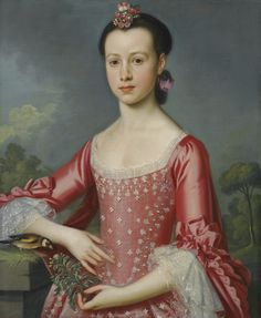 Portrait of Miss Bache, by Christopher Steele (1733 - 1768)