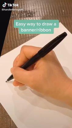 Hand Lettering Art, Hand Lettering Tutorial, Creative Lettering, Simple Lettering, Bullet Journal Lettering Ideas, Bullet Journal Ideas Pages, Bullet Journal Inspiration, Bullet Journal Notebook, Book Journal
