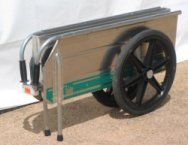 A wheelbarrow can take up a lot of room in the barn aisle, especially when you have to take one to shows. Just loading it in the trailer or the back of the truck is a pain. A folding product like this can alleviate all that stress.