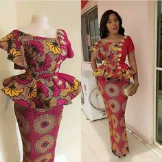 the most fascinating new fashion trends that are making waves in this year 2020 is how Ankara fabrics are been combined in in a classy manner. One of those trends is Ankara tops and jeans,Ankara Gowns,Ankara Skirt and Blouses,Plain and patterns. Ankara Skirt And Blouse, Ankara Dress Styles, African Maxi Dresses, African Fashion Ankara, Latest Ankara Styles, African Inspired Fashion, Latest African Fashion Dresses, African Attire, Blouse Styles