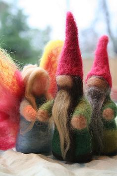 felted gnomes | love in the suburbs (inspiration only, not a direct link)