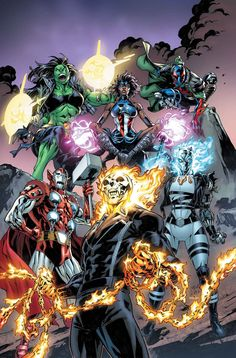 This July, Characters Fuse in 5 'Secret Warps' Annuals - Marvel Universe Ghost Marvel, Hq Marvel, Marvel Comic Universe, Marvel Comics Art, Marvel Comic Books, Comics Universe, Marvel Heroes, Comic Books Art, Comic Art