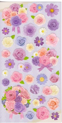 Japan Mind Wave kawaii PURPLE FLOWER sticker by kawaiistickers4you
