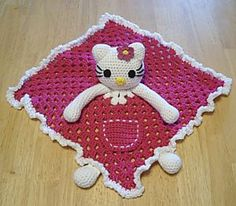 For Madi. Ravelry: Hello Kitty Lovey Blankie pattern by Knotty Hooker Designs