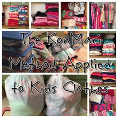 The KonMari Method Applied to Kids Clothes - www.ismycrazyshowing.com