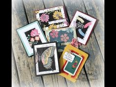 cardmaking video tutorial: block fill technique from The Serene Stamper ... artsy handcrafted look ... luv her glittering ...