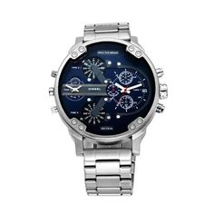 New Brand Luxury Large Dial Men's Military Leather Stainless Steel Casual Sports Business Metal Watch Men Smartwatch, Cool Watches, Watches For Men, Wrist Watches, Tommy Hilfiger, Mens Sport Watches, Watch Sale, Stainless Steel Watch, Modern Retro