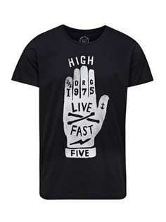 REGULAR FIT T-SHIRT, Black