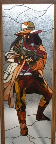 stained glass Wild West Shootist