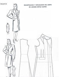 Vintage: tailored coat model (Draft img)