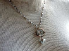 Antique Assemblage Necklace Victorian Portrait by WhatOnceWas